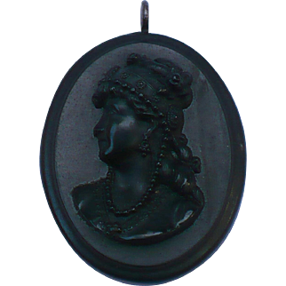 Victorian Volcanite Cameo