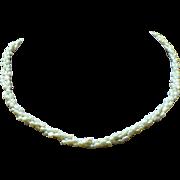 Vintage cultured freshwater pearl triple strand torsade