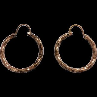 Victorian Hoop earrings in rose rolled gold