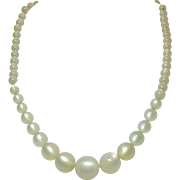 Vintage graduated bead Moonglow necklace