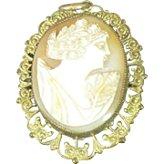 Vintage Shell Cameo in base mounting