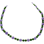 Jade necklace 14 kt white gold clasp