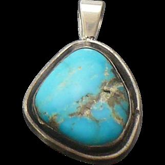 Vintage Turquoise pendant, signed