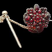 Vintage Bohemian garnet brooch