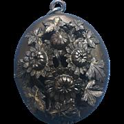 Victorian Black Guttta Percha Mourning locket