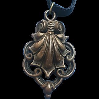 Ornate Victorian Gutta Percha mourning locket
