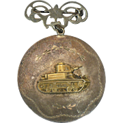 Vintage Sterling WWII Tank Locket