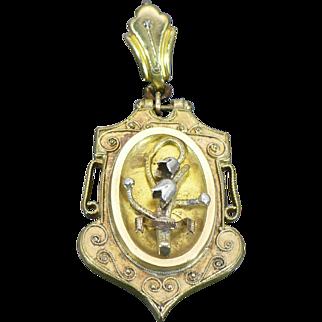 14 Kt Victorian Etruscan style Locket