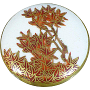 Satsuma multi color fall leaves button
