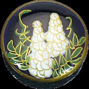 Satsuma White Wisteria Flower button
