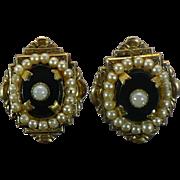 Vintage Victorian style costume earrings