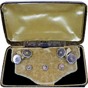 Edwardian Cufflink set in original box