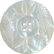 1.5 Inch Mother of Pearl hand carved button