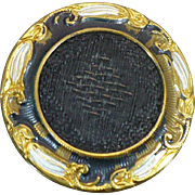 Antique German Gilt and fabric perfume button