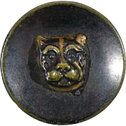 Antique Tiger - Lion relief button