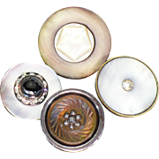 4 Vintage fancy Mother of Pearl Buttons
