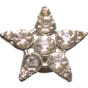 Vintage Foil back star button
