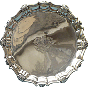 Georgian Sterling Salver by Hugh Mills dated 1750
