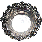 Vintage repousse sterling nut bowl by Whiting Co