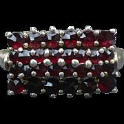 Vintage Bohemian garnet Vermeil ring