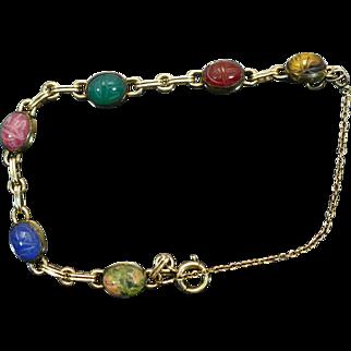 Vintage WRE scarab bracelet 1/20 12kgf