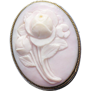Victorian Style Queen conch cameo in sterling
