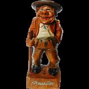 Italian Anri Wood Carved Figurine