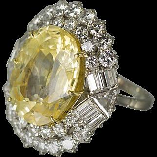 Unheated Ceylon Yellow Sapphire