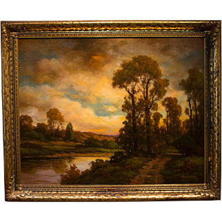 Franklin E. Booth Original Oil Painting