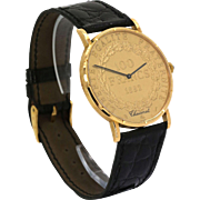 18k Corum Watch Chaumet of Paris Vintage Special Edition Yellow Gold