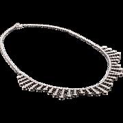 14k Estate Diamond Necklace Collar White Gold 3.75ctw Diamonds