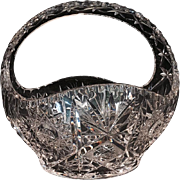 Czech Bohemian Hand-Cut Crystal Basket
