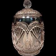 1810s Flint Glass Biscuit Jar - 3 Mold Pattern - Original Cookie Jar!