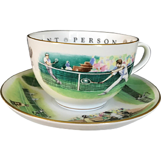 Royal Worcester Tennis Theme VIP Breakfast Cup & Saucer