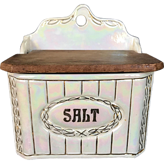 Old Circa 1920s-1930s Hanging Salt Box Czech Pre WWII
