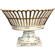 Old Paris Porcelain Reticulated Basket Corbeille Early 19th Century