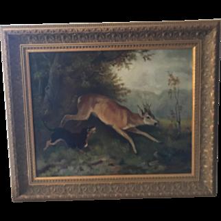 American Folk Art Oil Paniting