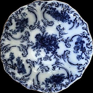 "Flow Blue Bowl circa 1890s ""Trilby"""