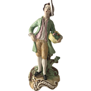 "Antique Staffordshire Figurine 7 1/4"" Man with Fruit"