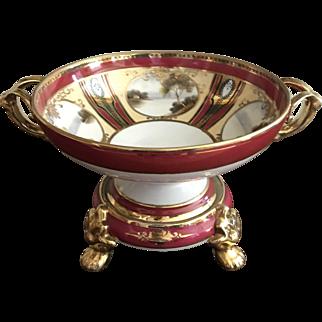 Exquisite Noritake Porcelain 2 Part Centerpiece Bowl