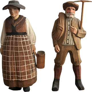 Hand Carved German/Swiss Figurines