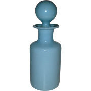 Circa 1920-1930's French Portieux Vallerysthal Blue Opaline Perfume Bottle