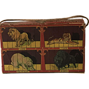 """National Biscuit Co. """"Barnum's Animals"""" Cookie Paper Box, Circa 1930's"""