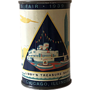 1939 World's Fair Bank Libby's Juice Tin Libby's Treasure Ship
