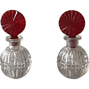 Czech Miniature Crystal Perfumes, Circa 1920's-1930's