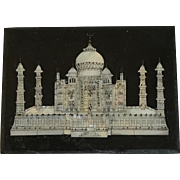 Slate and Mother of Pearl Taj Mahal Paperweight