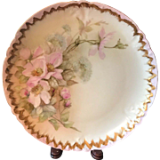 """Antique Limoges 11.75"""" Plate or Charger Hand Painted J.P.L. France"""