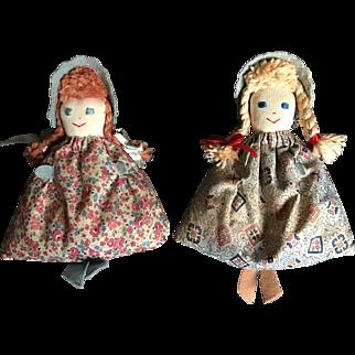 Circa 1940s Bean Bag Dolls