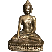 Vintage Chinese/Tibetan Heavy Brass Buddha