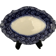 1897 English Flow Blue Platter